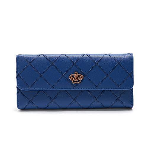 TONKOW Münztüte Geld-Clips Minimalistische Geldbörsen RFID-Brieftasche Weiches Leder Brieftasche Aus Pu-Leder Ledergeldbörse Brieftaschen Mit Mehreren Karten Blue