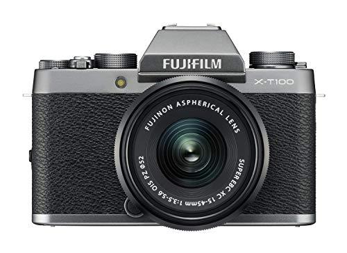 Fujifilm-X-T100-XC-15-45mm-F35-56-OIS-PZ-MILC-242MP-CMOS-6000-x-4000pixels-Silver-Digital-Cameras-242-MP-6000-x-4000-pixels-CMOS-4K-Ultra-HD-Touchscreen-Silver