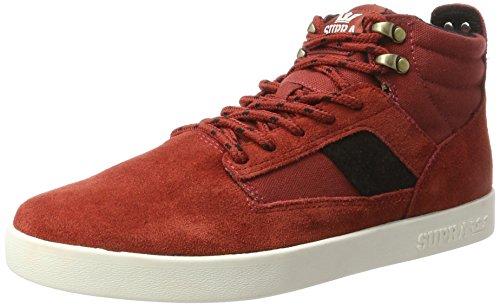Supra Herren Bandit Sneaker, Rot (Cayenne-Off White), 41 EU Supra Schuhe Sneaker Herren Rot