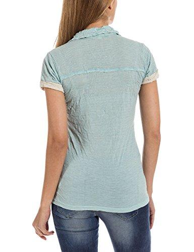 Timezone Polo Shirt, Polo da Donna, Manica Corta blu(Blau (porcelain blue 3559))