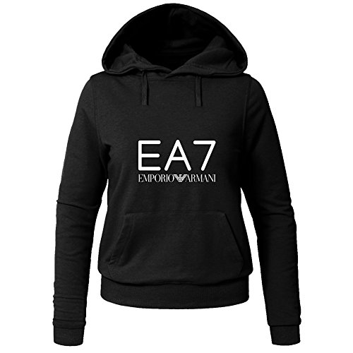Hot EA7 Emporio Armani Hoodies -  Felpa con cappuccio  - Donna Black Medium