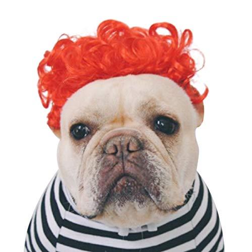 rücke Haar Kostüm Zubehör für Katze Hund Cosplay Halloween Party Weihnachten Urlaub Rot ()