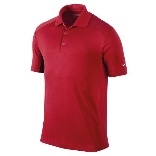 NIKE Herren Polohemd Victory Stripe Rot - Red - Universitätsrot