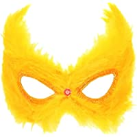 Hen Night Party-Costume da donna, per Halloween Masquerade &-Mascherina per gli occhi con piume - Piuma Maschera Di Halloween Costume