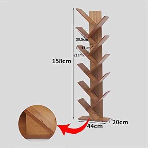 Kapazität Cd-ablage (GWXJZ CD Regal CD-Aufbewahrungsregal Bücherregal Boden Student Regal Einfache Wohnzimmer Bücherregal 5/6 Schicht CD-Regal Ablage, kleine Stellfläche, große Kapazität (größe : 44 * 20 * 158cm))