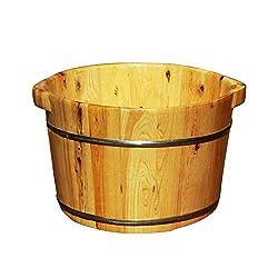 RUYII Pedicure Basin Natural Wood Steam Basin Foot Bath Barrel Foot Pub Foot Care Solid Wood Sauna Fumigation Barrel Basin