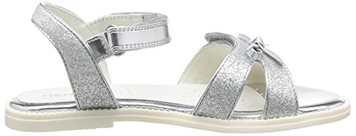 Geox J S Karly G A, Sandales fille Argent (Silver)