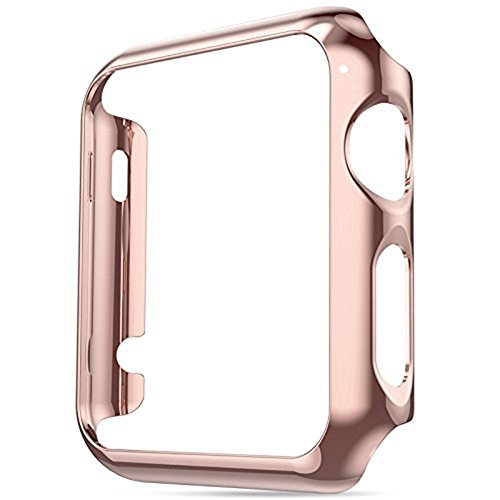 jemous Compatible con Cover per Apple Watch Series 4 44mm/40mm iWatch Plated Metal Bumper Protettivo Cover Custodia per Apple...
