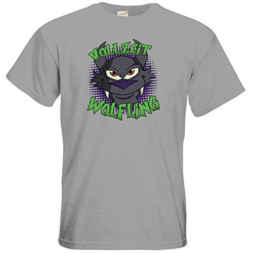 getshirts - Der Wolflings-Shop - T-Shirt - Vollzeit Wolfling pacific grey