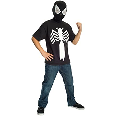 Rubie's Ultimate Black Spider-man / Venom T-shirt and Mask, Child Large - Child Large One Color by