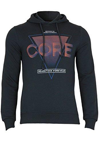 Jack & Jones sweatshirt Jcotrade sweat hood slim Black Navy