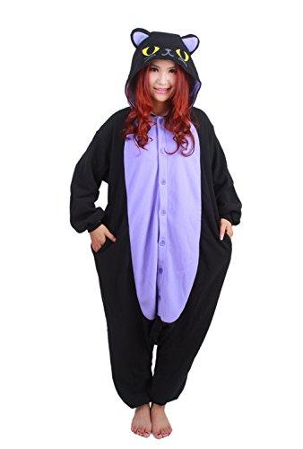 r Nacht Katze Cosplay Kostüm Schlafanzug Jumpsuit Trainingsanzug Large (Damen Hello-kitty-kostüm)
