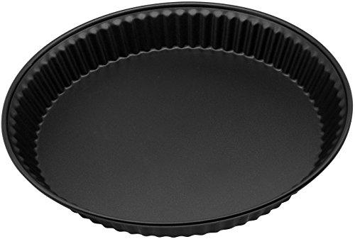 """Zenker Quicheform 28 cm aus der Serie \""""Pure\"""", Tarte- und Obstkuchenform, Tortenbodenform (Farbe: schwarz), Menge: 1 Stück"""