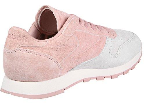 Reebok Classic Leather Nbk, Sneaker Donna rosa grigio