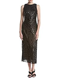 e81cb774e5 R M Richards Women s One Piece Missy Size Embroidered Sequins Mesh Dress