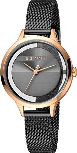 Esprit Damen Analog Quarz Uhr mit Edelstahl Armband ES1L088M0065