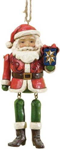 Heartwood Creek 4034415 Babbo Natale con Braccia a Penzoloni Resina, Design di Jim Shore, 14 cm