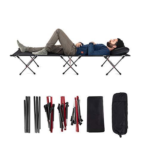 LXB Faltbares Campingbett, Ultraleicht, tragbar und benutzerfreundlich, für den Innen- und Außenbereich geeignet, bis zu 400 kg. Nicht auf Ausflüge beschränkt.