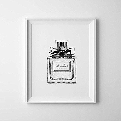 christian-dior-perfume-botella-impresion-moda-arte-negro-y-blanco-de-impresion-de-miss-dior-dior-pos