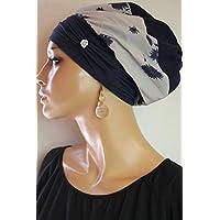 LUXUS Ballonmütze Beanie Mütze Baskenmütze Kopfbedeckung Blau Pink Schwarz Chemo