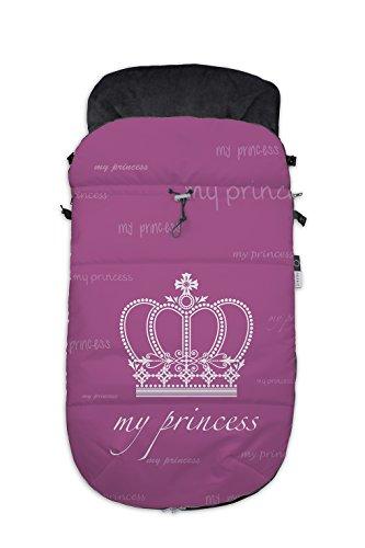 Fuli&co Krone - Saco universal para silla de paseo, 93.5 x 45 x 5 cm, color rosa