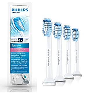Philips Sonicare HX6054/07 Pack Têtes de brosse Sensitive Standard (X4) (B00DSFG6RU)   Amazon Products