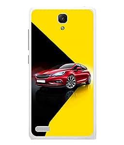 PrintVisa Designer Back Case Cover for Xiaomi Redmi Note :: Xiaomi Redmi Note 4G :: Xiaomi Redmi Note Prime (Red Black Yellow Lights Design Transportation Power Tyres)