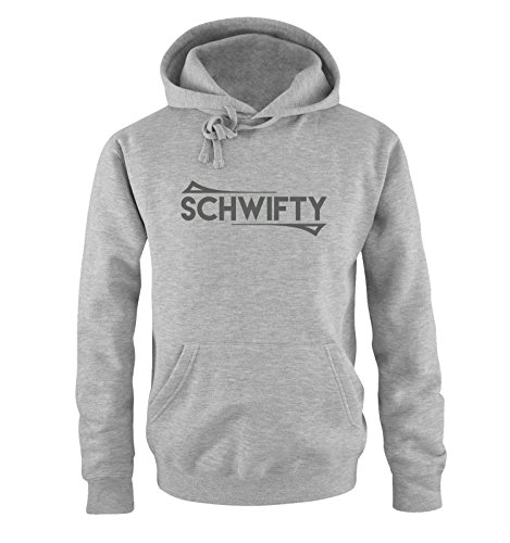 Comedy Shirts - SCHWIFTY - Rick and Morty - Herren Hoodie - Grau / Grau Gr. (Party Nächste Stadt)