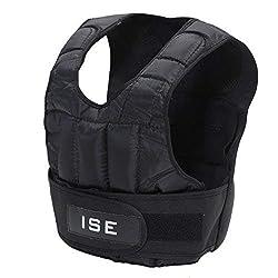 ISE Gewichtsweste Verstellbar von 5 kg 10 kg 15 kg 20 kg 25 kg 30 kg Gewicht Warnwesten für Gewicht Training Krafttraining Übung SY3002 (5)