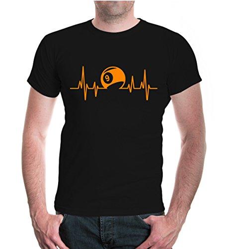 T-Shirt Frequenz-Billard-XXL-black-neonorange