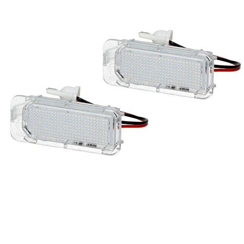 ECD Germany 2 x LED Kennzeichenbeleuchtung mit E-Prüfzeichen 18 SMD Kennzeichen Beleuchtung Kennzeichenleuchte Nummernschild Licht