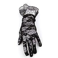 Cadılar Bayramı Halloween Siyah Dantelli Eldiven 1 Paket / Standart
