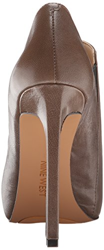 Nine West Leandra Cuir Bottine Grey-Blk