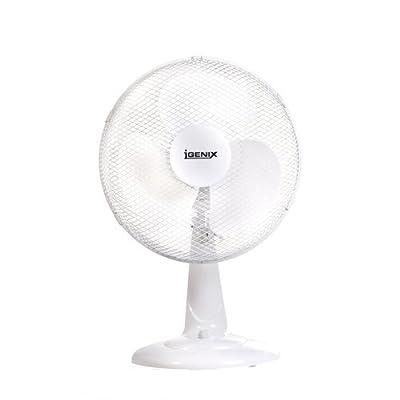 Igenix DF1210 Portable Fan, 12-Inch, 35 W, White
