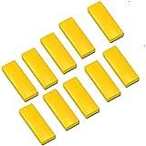 10x Faxland Magnete rechteckig, Gelb 54x19 mm, Haftmagnete für Whiteboard, Kühlschrankmagnet, Magnettafel, Magnetwand, Magnet