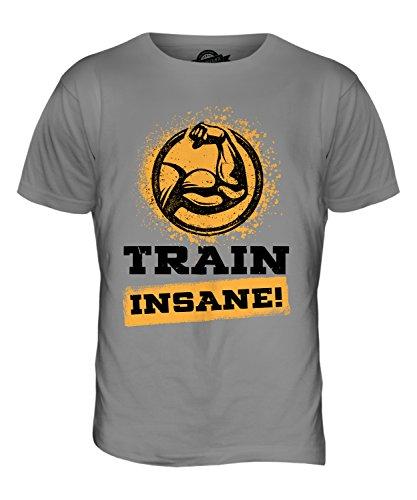 CandyMix Fitness Train Insane Herren T Shirt Hellgrau