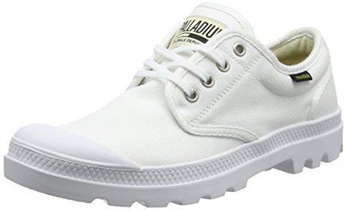 Palladium Unisex-Erwachsene Pampa Oxford Originale Sneaker, Weiß White 924, 44 EU Casual Canvas Oxford