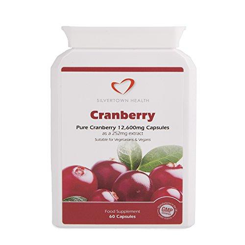 Cranberry-Kapseln - Starkes Premium Cranberry Fruchtextrakt entspricht 12.600 mg ganzer Cranberryfrucht pro Kapsel - 60 Kapseln