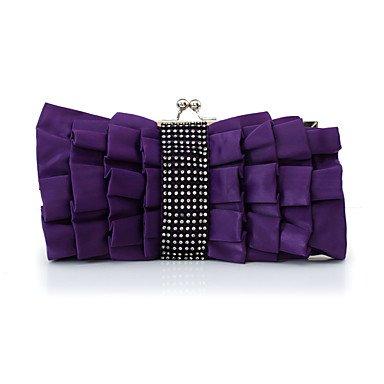 pwne L. In West Frauen'S Fashion Silk Blume Abendessen Tasche Purple