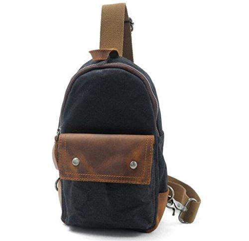 SHFANG Chest Front Bag Männlich-Weibliche Freizeit Retro Shopping Tourismus Bequem Einfach Drei Farben 16 * 7 * 26cm 0.4KG , green black
