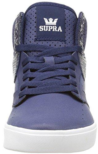 Supra KHAN Unisex-Erwachsene Hohe Sneakers Blau (NAVY - WHITE   NVY)