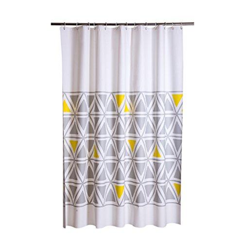 Rideaux de douche Rideau de douche PEVA matériau étanche salle de bains une variété de spécifications protection de l'environnement suspendus (taille : 120×180CM)