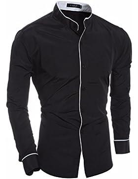 Camisa de manga larga de otoño e invierno los hombres hombres ocio personalidad Sau San Polo Shirt