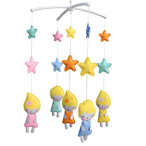 Crib Musical Mobile, Girls Non-Woven Fabric Toys [Little Girls]