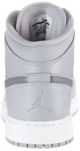 Nike Air Jordan 1 Mid Bg, Chaussures de Basketball Mixte Enfant schwarz