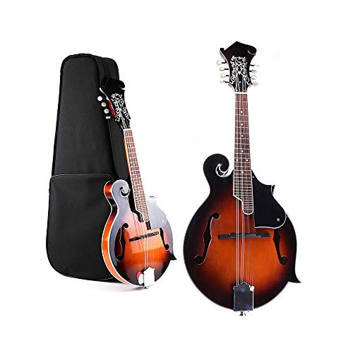 ZGHNAK 39 '' Sunset F-Modell Mandoline 8 Saiten Konzert Ukulele Bass Gitarre mit Ukulele Fall Für Musical Saiteninstrument Liebhaber Geschenk
