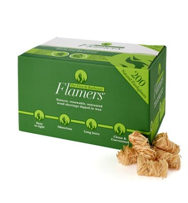 Flamers 200 Natural Stove-Barbecue BBQ Firelighters NEW Larger Pack