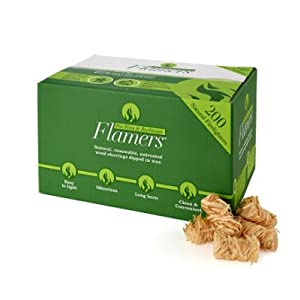 41fl60YN4sL. SS300  - Flamers 200 Natural Stove-Barbecue BBQ Firelighters NEW Larger Pack