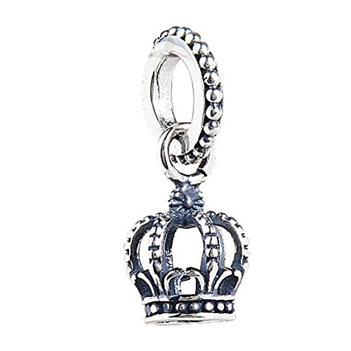 Soulbead noble splendor crown charm genuine 925 sterling silver dangle bead fit european style bracelet or necklace by soulbead