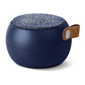 Fresh 'n Rebel Speaker Rockbox Round H2O Fabriq Edition, Altoparlante Bluetooth Portatile senza fili, IPX4, Resistente all'Acqua, Vivavoce, In tessuto,  Blu Indigo